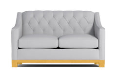 Jackson Heights Apartment Size Sleeper Sofa :: Leg Finish: Natural / Sleeper Option: Deluxe Innerspring Mattress
