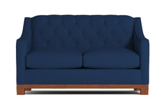 Jackson Heights Apartment Size Sleeper Sofa :: Leg Finish: Pecan / Sleeper Option: Memory Foam Mattress