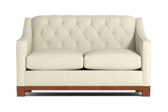 Jackson Heights Twin Size Sleeper Sofa :: Leg Finish: Pecan / Sleeper Option: Deluxe Innerspring Mattress