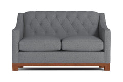 Jackson Heights Apartment Size Sleeper Sofa :: Leg Finish: Pecan / Sleeper Option: Deluxe Innerspring Mattress