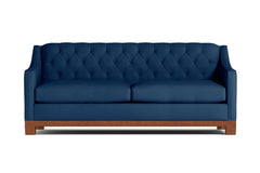Jackson Heights Queen Size Sleeper Sofa :: Leg Finish: Pecan / Sleeper Option: Memory Foam Mattress