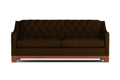 Jackson Heights Queen Size Sleeper Sofa :: Leg Finish: Pecan / Sleeper Option: Deluxe Innerspring Mattress