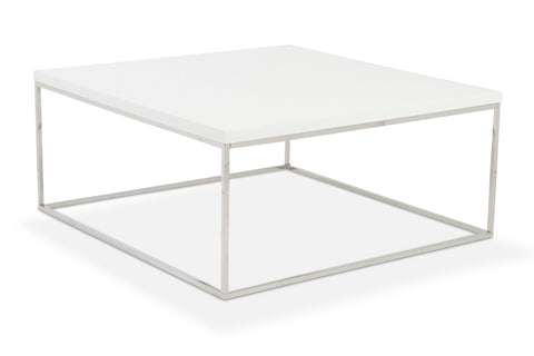 Kings Road Sq. Coffee Table WHITE/CHROME