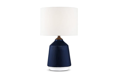 Milford Table Lamp BLUE CERAMIC