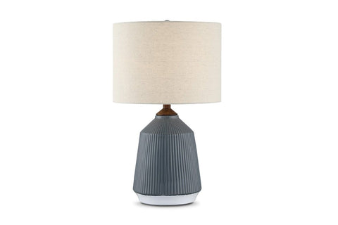 Milford Table Lamp GREY CERAMIC