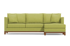 La Brea 2pc Sectional Sofa :: Leg Finish: Pecan / Configuration: RAF - Chaise on the Right