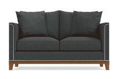 La Brea Apartment Size Sleeper Sofa :: Leg Finish: Pecan / Sleeper Option: Deluxe Innerspring Mattress