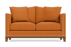 La Brea Twin Size Sleeper Sofa :: Leg Finish: Pecan / Sleeper Option: Deluxe Innerspring Mattress