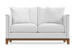 La Brea Twin Size Sleeper Sofa :: Leg Finish: Pecan / Sleeper Option: Memory Foam Mattress