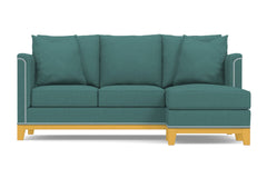 La Brea Reversible Chaise Sleeper Sofa :: Leg Finish: Natural / Sleeper Option: Deluxe Innerspring Mattress
