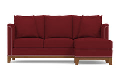 La Brea Reversible Chaise Sleeper Sofa :: Leg Finish: Pecan / Sleeper Option: Deluxe Innerspring Mattress