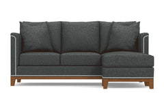 La Brea Reversible Chaise Sleeper Sofa :: Leg Finish: Pecan / Sleeper Option: Memory Foam Mattress