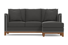 La Brea Reversible Chaise Sofa :: Leg Finish: Pecan