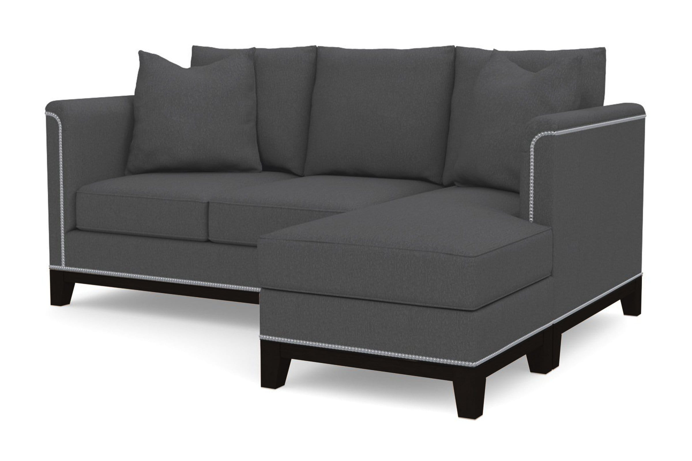 La Brea Reversible Chaise Sleeper Sofa - Grey -  Pull Out Couch Bed Made in the USA - Sold by Apt2B