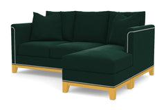 La Brea Reversible Chaise Sleeper Sofa :: Leg Finish: Natural / Sleeper Option: Memory Foam Mattress