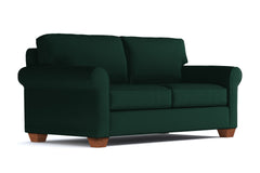 Lafayette Apartment Size Sleeper Sofa :: Leg Finish: Pecan / Sleeper Option: Memory Foam Mattress
