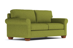 Lafayette Apartment Size Sleeper Sofa :: Leg Finish: Pecan / Sleeper Option: Deluxe Innerspring Mattress
