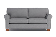 Lafayette Twin Size Sleeper Sofa :: Leg Finish: Pecan / Sleeper Option: Deluxe Innerspring Mattress