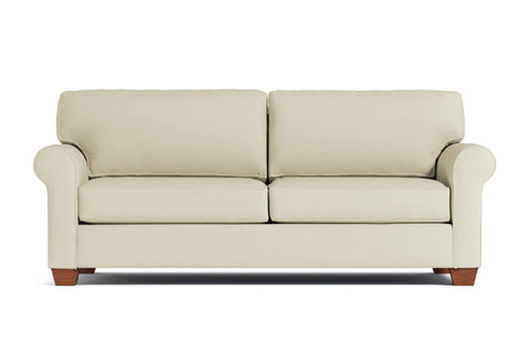 Lafayette Queen Size Sleeper Sofa :: Leg Finish: Pecan / Sleeper Option: Deluxe Innerspring Mattress