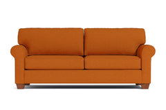 Lafayette Queen Size Sleeper Sofa :: Leg Finish: Pecan / Sleeper Option: Memory Foam Mattress