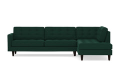 Lexington 2pc Sectional Sofa :: Leg Finish: Espresso / Configuration: RAF - Chaise on the Right