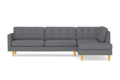 Lexington 2pc Sectional Sofa :: Leg Finish: Natural / Configuration: RAF - Chaise on the Right