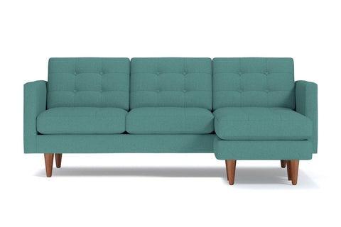 Lexington Reversible Chaise Sofa :: Leg Finish: Pecan