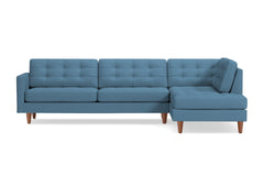 Lexington 2pc Sectional Sofa :: Leg Finish: Pecan / Configuration: RAF - Chaise on the Right