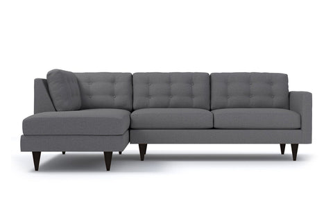 Logan 2pc Sectional Sofa :: Leg Finish: Espresso / Configuration: LAF - Chaise on the Left