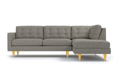 Logan 2pc Sectional Sofa :: Leg Finish: Natural / Configuration: RAF - Chaise on the Right