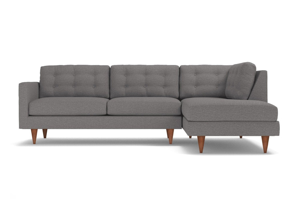 Genial Logan 2pc Sectional Sofa :: Leg Finish: Pecan / Configuration: RAF   Chaise  On The Right