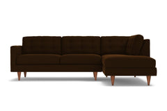 Logan 2pc Sectional Sofa :: Leg Finish: Pecan / Configuration: RAF - Chaise on the Right