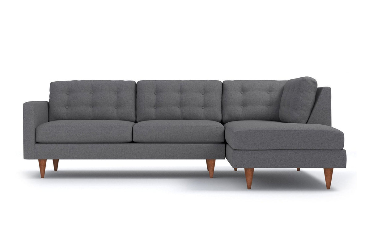 Logan 2pc Sectional Sofa - USA Made Modern Apartment Sectionals | Apt2B