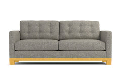 Logan Drive Apartment Size Sleeper Sofa :: Leg Finish: Natural / Sleeper Option: Memory Foam Mattress