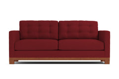 Logan Drive Apartment Size Sleeper Sofa :: Leg Finish: Pecan / Sleeper Option: Deluxe Innerspring Mattress