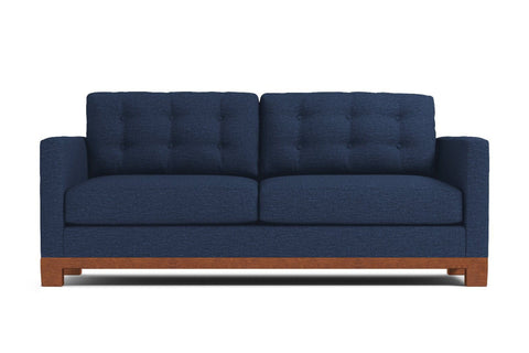 Logan Drive Twin Size Sleeper Sofa :: Leg Finish: Pecan / Sleeper Option: Memory Foam Mattress