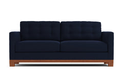 Logan Drive Apartment Size Sleeper Sofa :: Leg Finish: Pecan / Sleeper Option: Memory Foam Mattress
