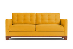 Logan Drive Queen Size Sleeper Sofa :: Leg Finish: Pecan / Sleeper Option: Deluxe Innerspring Mattress