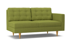 Logan Right Arm Apartment Size Sofa :: Leg Finish: Natural / Configuration: RAF - Chaise on the Right