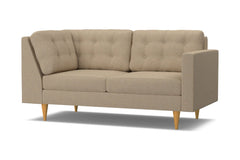 Logan Right Arm Corner Apt Size Sofa :: Leg Finish: Natural / Configuration: RAF - Chaise on the Right