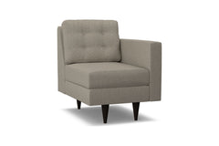 Logan Right Arm Chair :: Leg Finish: Espresso / Configuration: RAF - Chaise on the Right