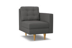 Logan Right Arm Chair :: Leg Finish: Natural / Configuration: RAF - Chaise on the Right