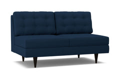 Logan Armless Apartment Size Sofa :: Leg Finish: Espresso
