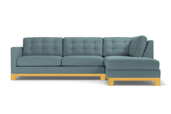 Logan Drive 2pc Sleeper Sectional Sofa :: Leg Finish: Natural / Configuration: RAF - Chaise on the Right / Sleeper Option: Memory Foam Mattress