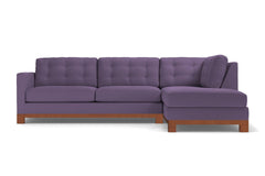 Logan Drive 2pc Sectional Sofa :: Leg Finish: Pecan / Configuration: RAF - Chaise on the Right
