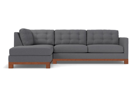 Logan Drive 2pc Sectional Sofa :: Leg Finish: Pecan / Configuration: LAF - Chaise on the Left