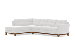 Marco 2pc Sleeper Sectional :: Leg Finish: Pecan / Configuration: LAF - Chaise on the Left / Sleeper Option: Memory Foam Mattress