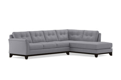 Marco 2pc Sleeper Sectional :: Leg Finish: Espresso / Configuration: RAF - Chaise on the Right / Sleeper Option: Memory Foam Mattress