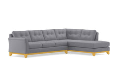 Marco 2pc Sleeper Sectional :: Leg Finish: Natural / Configuration: RAF - Chaise on the Right / Sleeper Option: Memory Foam Mattress