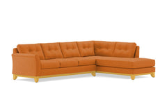 Marco 2pc Sectional Sofa :: Leg Finish: Natural / Configuration: RAF - Chaise on the Right